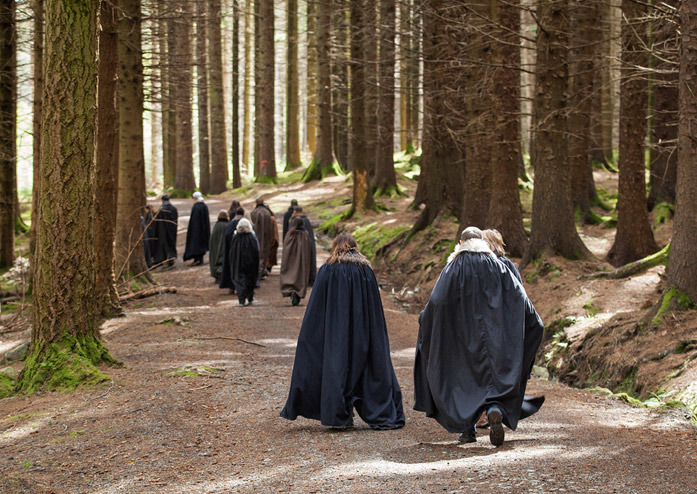 game of thrones tour people in forest