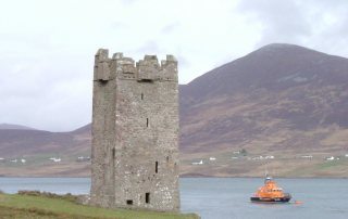 Achill Island View of achill castle