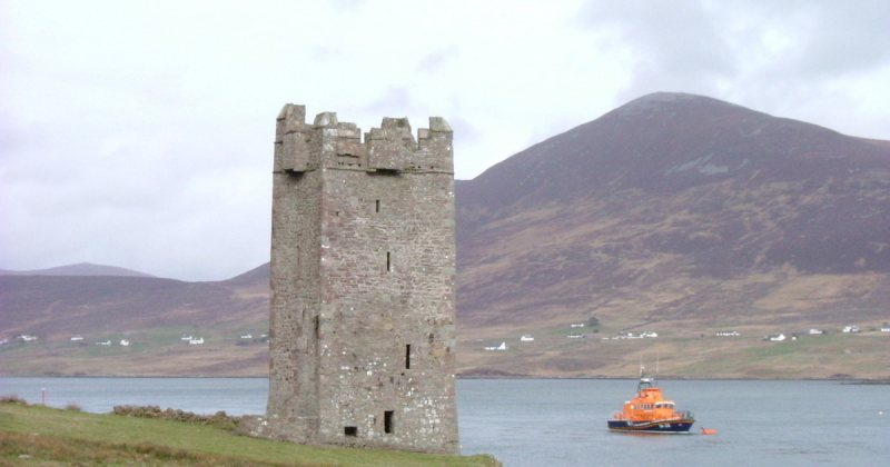 Achill Island View of achill castle